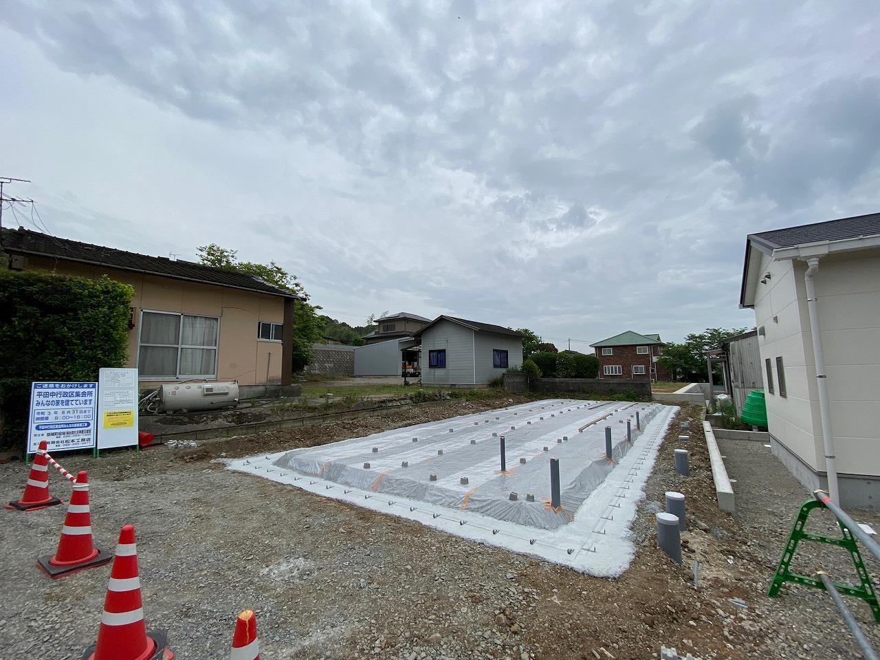 平田中行政区集会所 みんなの家移築工事進捗状況