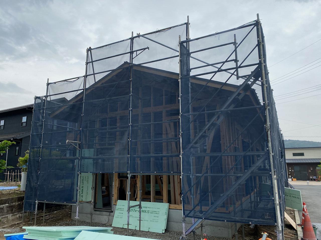 田原行政区集会所 みんなの家移築工事進捗状況